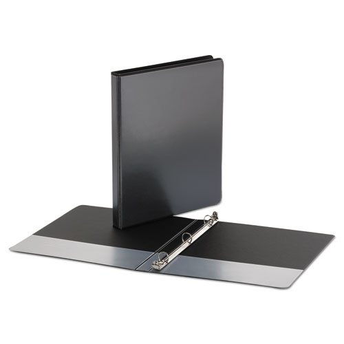 1InTheOffice 3 Ring Binder 1/2 inch, 1/2'' Capacity View Binder, 2 White & 2 Black by 1InTheOffice (Image #1)