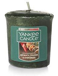 (Yankee Candle Holiday Aromatic Orange & Evergreen Sampler Votive Candles 1.75 oz Each )