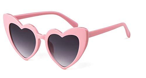 Clout Goggle Heart Sunglasses Retro Vintage Cat Eye Mod Style Kurt Cobain Glasses ()