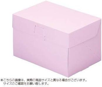 パッケージ中澤 ケーキ箱 ロックBOX 105-ピンク 5×7