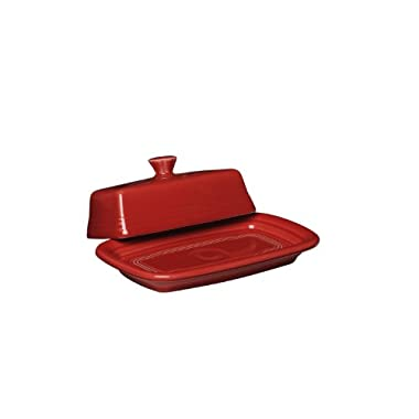 Fiesta Covered Butter Dish, X-Large, Scarlet