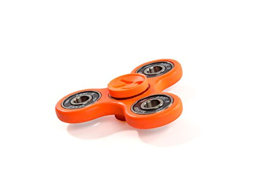 7D CUSTOMS EDC Tri-Spinner Fidget Toy NEW 2017 EDITION Dirt Resistant Smooth Surface Finish Ultra Durable Non-3D printed (PREMIUM NEON EDITION) (Orange)