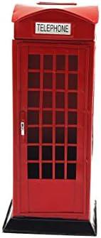 [スポンサー プロダクト]Olive-G イギリス アンティーク レトロ 電話ボックス 貯金箱 ヨーロッパ (レッド)