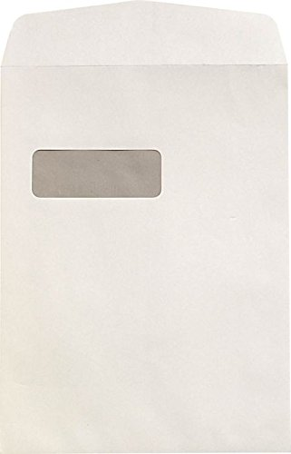 9 x 12 Open End Window Envelopes w/Peel & Seel - 28lb. White (50 Qty.) | Perfect for sending Letters, Invoices or Statements | 1590PS-50 Business Card Window Envelopes