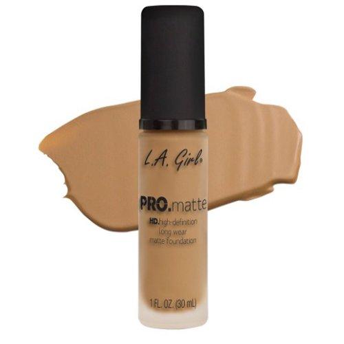 LA Girl PRO.mattte HD.high-definition long wear matte foundation (GLM675 Medium Beige) - Foundations Girl
