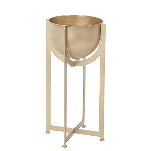 TongN Flower Rack Free Standing Golden Plant Pot Holder Metal Flower Pot Shelf ()