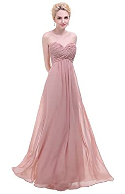 Esvor Sweetheart Chiffon Party Prom Bridesmaid Dress Long Evening Gown
