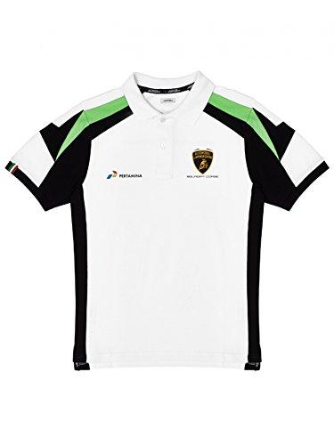 Automobili Lamborghini Squadra Corse Polo Shirt, White - Corse Michael