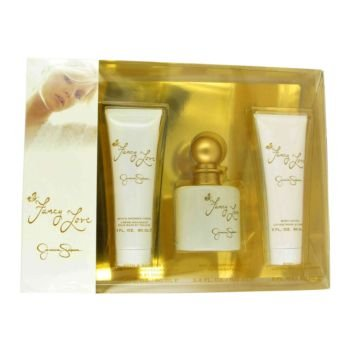 Fancy Love By Jessica Simpson Gift Set — 3.4 Oz Eau De Parfum Spray + 3.4 Oz Body Lotion + 3.4 Oz Shower Gel For Women