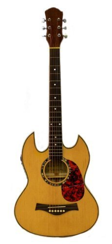 C / ELECTRIC Double Cutaway GUITAR (Thin Body Acoustic Electric Guitar)