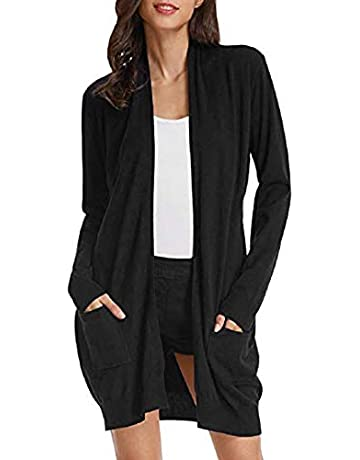 8e1841a1a GRACE KARIN Essential Solid Open Front Long Knited Cardigan Sweater for  Women