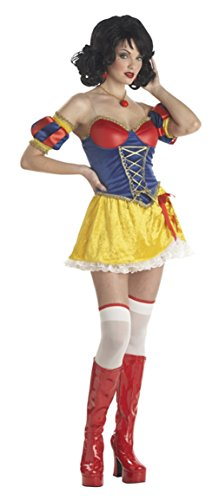 Snow White Costume - Adult Rebel Toons Costume - Large (10-12) (Rebel Toons)