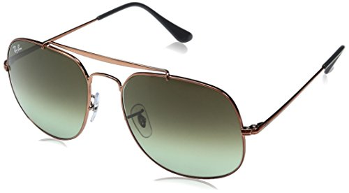 Ray-Ban Men's Steel Man Sunglass Square, Medium Bronze, 57 ()