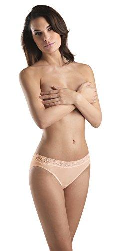 Hanro Women's Moments High Cut Brief Panty, Skin, Medium