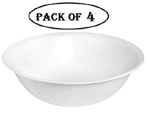 Corelle Stoneware Bowls - Corelle Livingware 1-quart Serving Bowl, Winter Frost White, Pack of 4