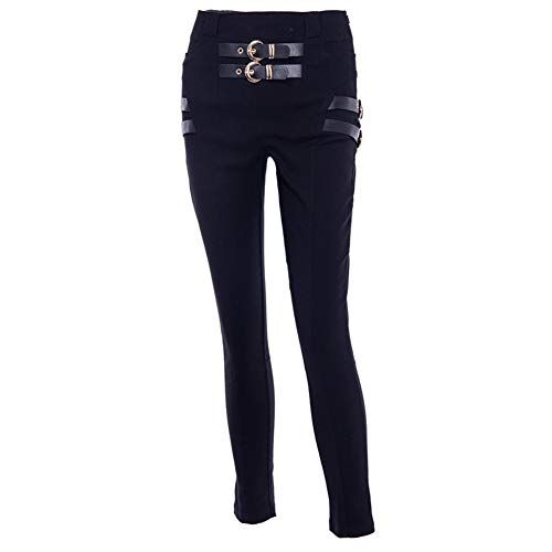 Pantalon Sexy Casual Leggings Shiny Taille Crayon Wet High Look Femmes Mesdames Black B8x5qFwB