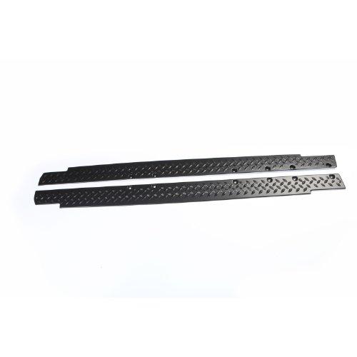 Rugged Ridge 11651.06 Black Diamond Plate Rocker Side Panel Kit