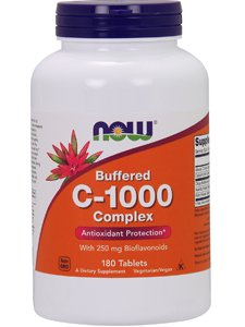 - Now Foods: C-1000 Antioxidant Protection Buffered C, 180 tabs