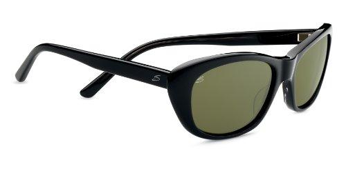 Serengeti Cosmopolitan Bagheria Sunglasses, Polarized 555nm, Black Gray Tortoise