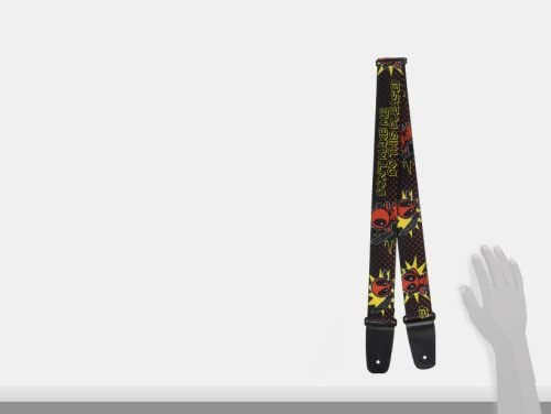"""29-54 Action Poses Black//Red2/"""" W Guitar Strap Buckle-Down  Deadpool"""