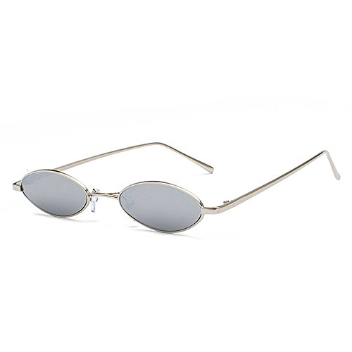 Sun Frame Small Silver Yellow Women Small Round Sunglasses Vintage Metal Oval Red Men Male For Retro Glasses For ff0OP8q1