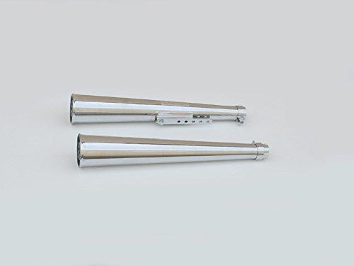 PAIR Of EMGO Widemouth Megaphone Style Mufflers - Suzuki / Yamaha / Honda / Kawasaki - P/N 80-84013 (Muffler Megaphone Style)