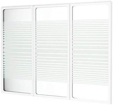 Schulte - Mampara de baño reversible y plegable de 130 x 120 cm, con 3 paneles basculantes, vidrio serigrafiado y rayas horizontales: Amazon.es: Bricolaje y herramientas