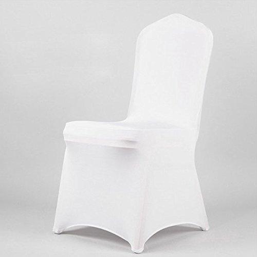 Wonderful NUOLUX 1 Pcs Spandex Folding CHAIR COVERS Wedding Supplies   White