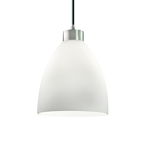 Justice Design Group Fusion 1-Light Pendant - Brushed Nickel Finish with Opal Artisan Glass (Justice Design Nickel Pendant)