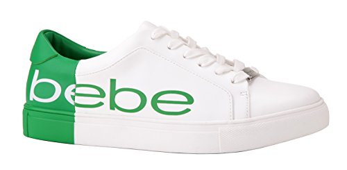 White bebe Women's Sneaker Green Charley 4zzpnr