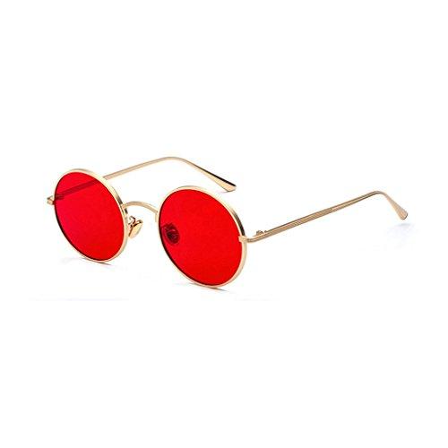 UV400 Vendimia la la Sol Gafas Sol Sol de de Primavera polarizadas de la Redondas Gafas HUACANG metálico bisagra de Las Marco de Gafas de del Red de de Gold Gafas Fashion Retros Lennon Hippie Sol Unisex HRCnxqCwU