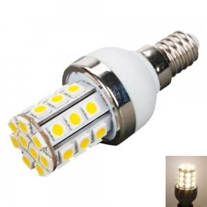 E14 5W 450LM 30LED 3000K Warm White Light Corn Light with Silver Side (110V)
