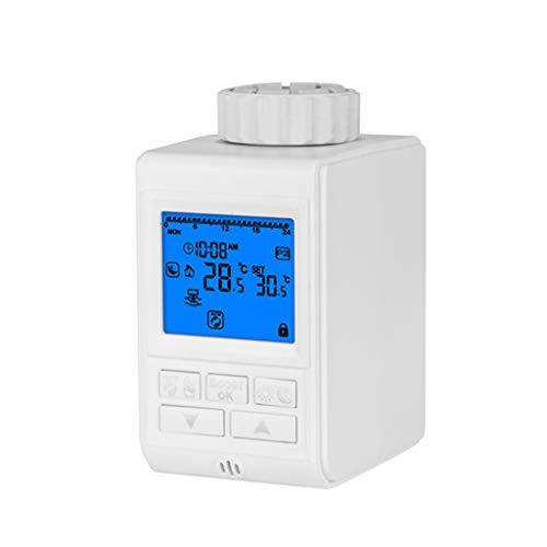 Abnana Programmable Thermostat Timer TRV Radiator Valve Actuator Temperature Controller