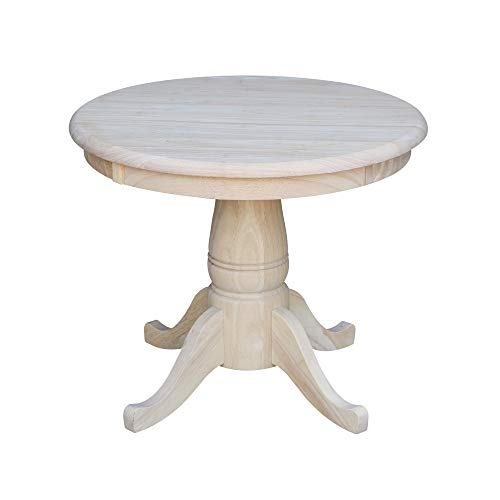 International Concepts Round Pedestal Table, 22-Inch, Unfinished