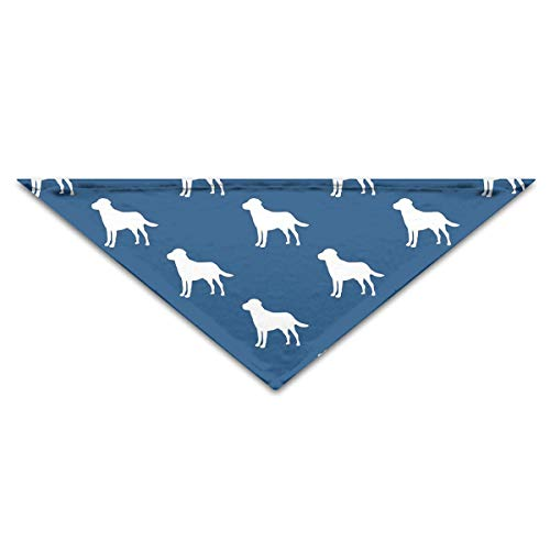 OLOSARO Dog Bandana Labrador Silhouettes On Navy Triangle Bibs Scarf Accessories for Dogs Cats Pets Animals ()