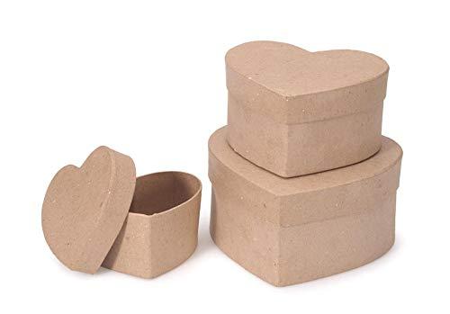 Darice 2849-05 Paper Mache Box Heart -