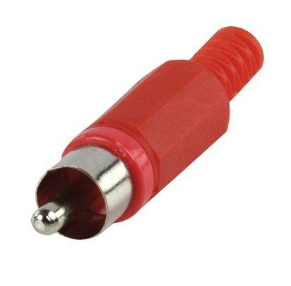 TM color rojo Conectores RCA para soldar macho pl/ástico Aksans