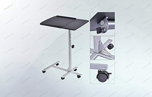 COLIDYOX>>Rolling Laptop Desk Stand,Steel Frame with MDF Surface Board is Strong and Firm Enough, with Competitive Price,Designed for Playing Computers Over Sofa or Bed at Home ()