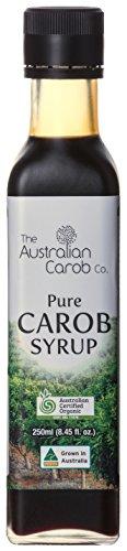 ORGANIC AUSTRALIAN CAROB CO. PREMIUM CAROB SYRUP GLASS BOTTLE, SUPERFOOD, 8.45fl.oz., NON-GMO, WORLDS #1 BEST TASTING, PURE CAROB SYRUP (no added flavors, sugars) VEGAN, PALEO, NEW GENERATION CAROB