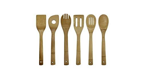 Oceanstar bamboo 7-piece cooking utensil set