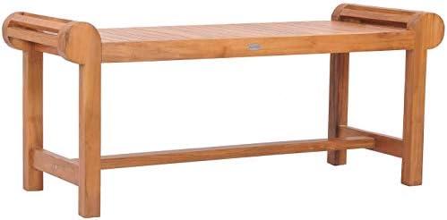 Teak Wood Lutyens Indoor/Outdoor Patio Backless Bench