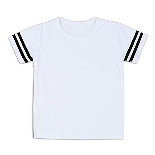 DEFAHN Toddler Plain Football Jersey Kids Boys Girls Short Sleeve Tee Shirt 2-5 Years (Solid White 1 Pack, 2T)