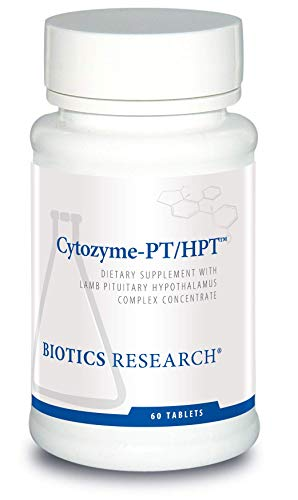 Biotics Research Cytozyme-PT/HPTTM - Lamb Pituitary/Hypothalamus Complex, Supports Function of The Pituitary Gland and Hypothalamus, Adrenal Health, Brain Boost 60tab (Pituitary Gland Support)