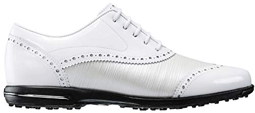 FootJoy Tailored Collection Women's Golf Shoes - 91686 White/Pearl - 6.5 Medium