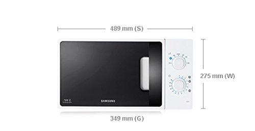 Samsung ME71A Encimera 20 L 1150 W Blanco - Microondas (Encimera ...