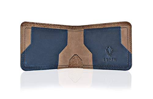 (Top Grain Crazy Horse Leather Mens Wallet | Modern Design Bifold Wallet | Slim, Stylish, Minimalist and Compact.)