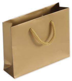 Eurotote Bag (Solid Euro-Shoppers - Gold Matte Laminated Mini Euro-Totes (200 Bags) - BOWS-244M-050104-15)