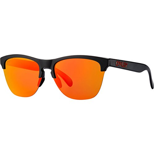 Oakley Frogskins Lite Sunglasses, Matte Black/Prizm Ruby, One - Oakley Black Frogskin