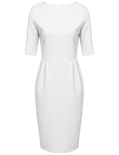 angvns-women-elegant-half-sleeve-fitted-cotton-business-pencil-dress-white-m