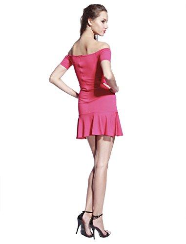 Skater Design Dress Catwalk88 Line Womens Shoulder A Off Sleeve Short AAq1p4H